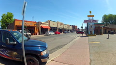 Downtown Williams Arizona Main Street Route 66 Wide Stock Footage