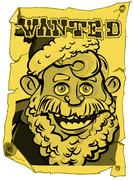 A wanted santa poster Stock Illustration