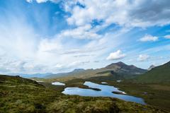 Knockan Crag in the schottish highlands - stock photo
