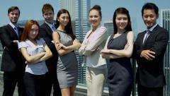 Team Portrait Ambitious Multi Ethnic Advertising Executives - stock footage