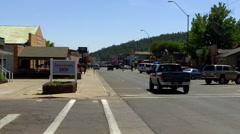 Pickup Truck Traffic On Route 66 Williams Arizona Main Street Stock Footage