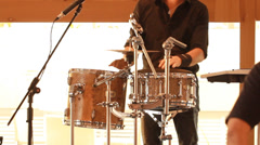 Drumming rhythm drumstick percussion blues jazz instrument concert play band Stock Footage