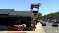 Rods Steak House- Williams Arizona Stock Footage