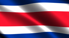 Costa Rican flag waving in the wind. Looping animation Stock Footage