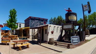 Stock Video Footage of Wild West Junction Section- Old West Themed Plaza- Williams AZ