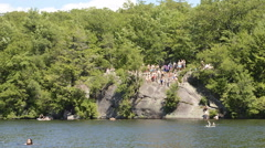 Summer fun at the lake time lapse HD 1080 Stock Footage