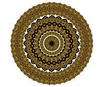 Circle ornament in medieval style Stock Illustration