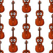 Seamless pattern of classical violins Stock Illustration