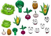 Stock Illustration of fresh grocery vegetables set