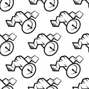 Seamless pattern of communications satellite icon Stock Illustration