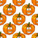 Stock Illustration of happy smiling colorful fresh pumpkin