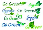Stock Illustration of go green - organic labels