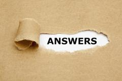 answers torn paper - stock illustration