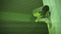 Security camera nightvision night vision Stock Footage