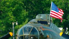 Boeing B-17 US Flag Stock Footage