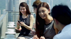 Ethnic Corporate Business Partners Wireless Smart Phone - stock footage