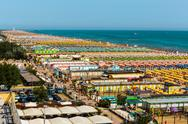 Stock Photo of beach rimini italy