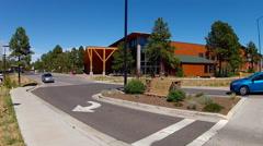 Flagstaff Aquaplex Sign And Building Wide- Flagstaff Arizona Stock Footage