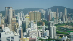 Elevated City View Modern City Hong Kong Island Stock Footage