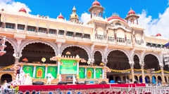 Mysore. The main palace complex. time-lapse Stock Footage