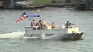 Stock Video Footage of Pontoon Boat on Lake 3