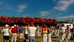 Wall of Fire at Airshow Stock Footage