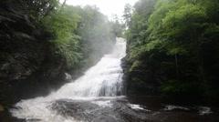 Dingmans Falls, Delaware Water Gap NRA, Pennsylvania. 1080/30 35s Stock Footage