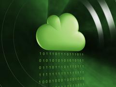 Data cloud matrix stream Stock Illustration