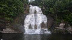 Shequaga Falls, Montour Falls, New York 1080/30 36s Stock Footage