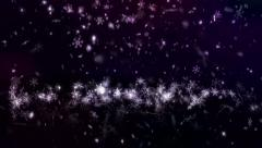 Snow Shape Bounce Loop Purple background 4K Resolution Ultra HD Stock Footage