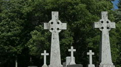 Celtic cross 3 Stock Footage