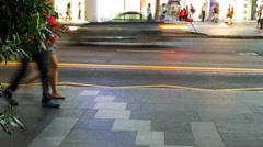 4k Ultra HD time lapse video of a vibrant street, Singapore(TL-PEDESTRIAN 10) Stock Footage
