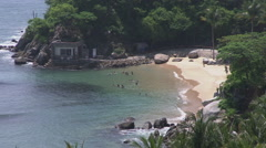 Small beach in Huatulco, Mexico Stock Footage