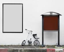 Blank mainosjulisteiden pyörä Kuvituskuvat