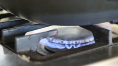 Gas fire burns Stock Footage