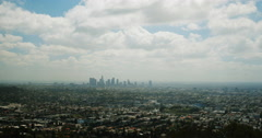4K time lapse of the Los Angeles skyline from Griffith Park Stock Footage