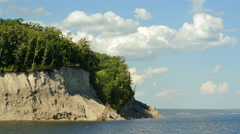 Cliff on Volga river Stock Footage