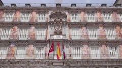 4of9 View of Madrid, Spain, Plaza Mayor - stock footage