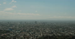 4K video of Los Angeles stretching all the way to Santa Monica beach Stock Footage