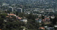 4K video of homes in the Hollywood hills in Los Angeles Stock Footage