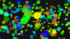 Background with different colors circles Stock Footage