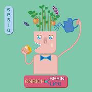 Enrich brain ,enrich life Stock Illustration