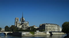 Notre Dame in central Paris, France Stock Footage