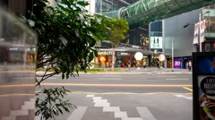 4k Ultra HD time lapse video on Orchard Road, Singapore(TL-ORCHARD RD 101) Stock Footage