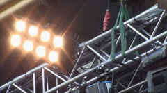 Concert Lights, Flashing, Bright, Bulb, Worm, Party, Festival, Stage Stock Footage