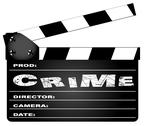Stock Illustration of crime movie clapperboard