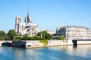 Stock Photo of cathedral notre dame paris