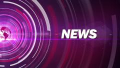 purple news generic - stock footage