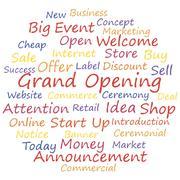 Grand opening Stock Illustration