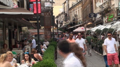 Crowded Street, People Walking By, East Europe, Bucharest, Crowds, Busy - stock footage
